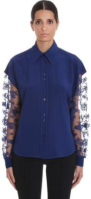 Givenchy Shirt In Blue Silk