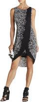 BCBGMAXAZRIA Audra Printed Asymmetrical Wrap Dress