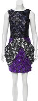 Vera Wang Lace Overlay Sequined Dress w/ Tags