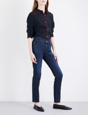 AG Jeans The Prima cigarette mid-rise jeans