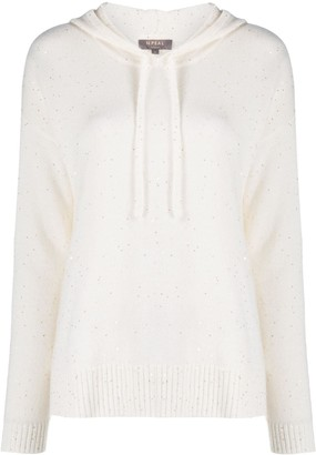 N.Peal Sequin Hooded Cashmere Sweater