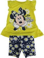 Disney Little Girls Minnie Floral Print 2 Pc Pant Outfit