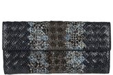 Bottega Veneta Snakeskin Effect Continental Wallet