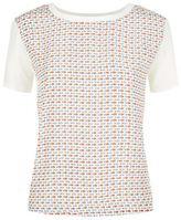 Max Mara Geranio Poisson Print Silk T-Shirt