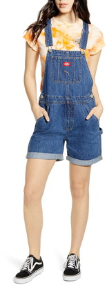 Dickies Cuffed Denim Short Overalls