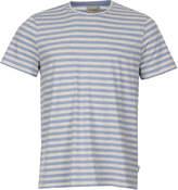 Oliver Spencer Conduit T Shirt OSMK580-CAP01SKY Sky Blue Stripe
