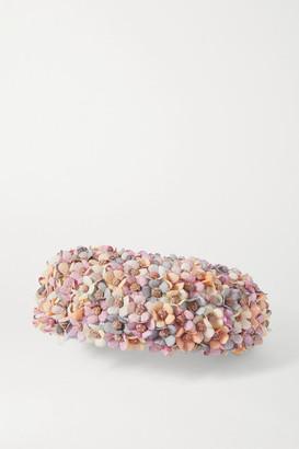 Merve Bayindir Jacqueline Embellished Sisal Hat - Pink