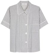Araks Shelby Pyjama Top - Fog Gingham