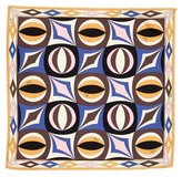 Emilio Pucci Abstract Print Silk Pocket Square