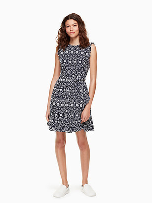 Kate Spade Shore Thing Eyelet Wrap Dress