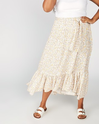 Cotton On Curve Gypsy Tiered Maxi Skirt