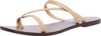 Steve Madden Janessa Flat Sandal Tan Leather 6