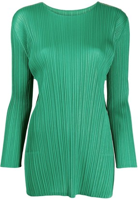 Pleats Please Issey Miyake Pleated Tunic Style Top