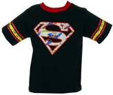 Superman Comic Book Logo DC Comics Superhero Distressed Toddler T-Shirt Tee
