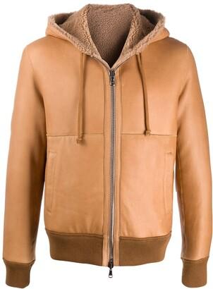 Giorgio Brato Long-Sleeve Hooded Bomber Jacket