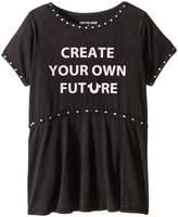 True Religion Studded Future Tee Shirt (Little Kids/Big Kids)
