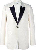 Saint Laurent monochrome smoking jacket