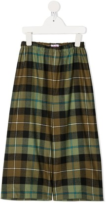 Il Gufo Checked Wide Leg Trousers