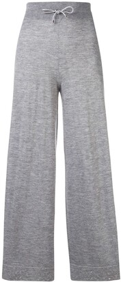 Barrie Cropped Wide-Leg Trousers