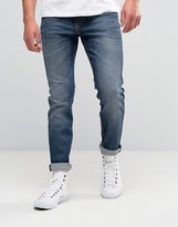 Lee Rider Slim Jeans Blue Gloss