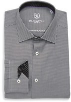 Bugatchi Trim Fit Houndstooth Dress Shirt