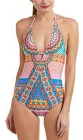 Laundry by Shelli Segal Halter One-piece.