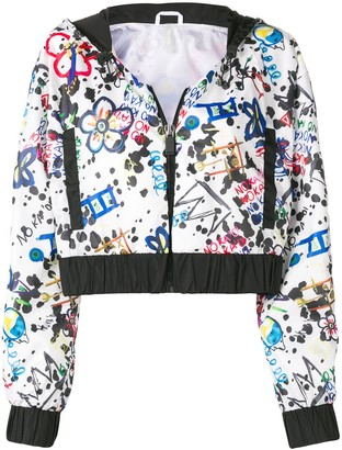 NO KA 'OI Print Cropped Jacket