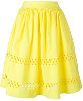 Alice + Olivia Alice+Olivia - cut-out midi skirt - women - Cotton - 6