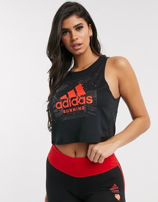 adidas singlet with logo in black