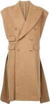 R 13 sleeveless oversized coat - women - Viscose/Camel Hair/Wool - XS