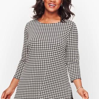 Talbots Knit Jersey Bateau Neck Tunic - Foulard Print