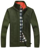 Shengweiao Men's Zip Knitted Cardigan Sweater (3XL, )