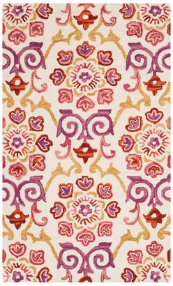 Safavieh Suzani Collection SZN377 Rug, Ivory/Rust, 3' X 5'
