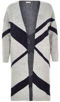 River Island Womens Plus grey print longline cardigan