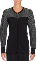 Calvin Klein Textured Zip-Front Cardigan