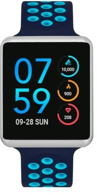 Itouch iTouch Air Special Edition Perforated Silicone Strap Smartwatch with Pedometer - Black/Lime