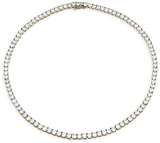 Fallon Monarch Silvertone & Pave Grace Collar Necklace