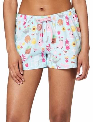 Hatley Little Blue House Women's Pyjama Boxer Shorts Pajama Bottom