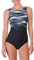 Reebok Abstract One-Piece Swimsuit