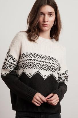 Velvet by Graham & Spencer Leanna Fair Isle Crew Neck Sweater