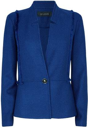 St. John Textured Knit Tailored Jacket