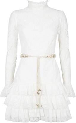 Zimmermann Lace Ruffle Trim Dress