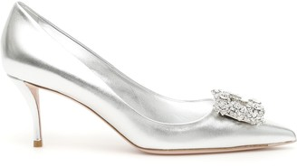Roger Vivier Flower Buckle Pumps