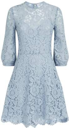Valentino Floral Lace Skater Dress