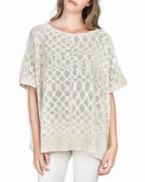 Lilla P Relaxed Slub Poncho Top, Natural