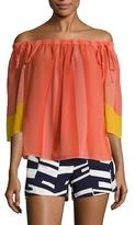 Trina Turk Yamille Colorblocked Blouse