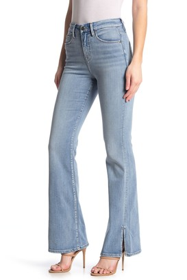 Good American Good High Waisted Flare Leg Jeans (Regular & Plus Size)