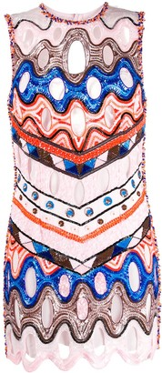 Emilio Pucci Vivara print sequinned dress