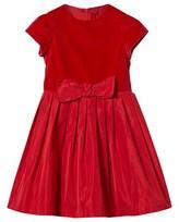 Il Gufo Red Velvet Bow Dress