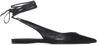 ATTICO Ankle Strap Slingback Flats